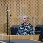 Paul Wilson stands in the dock at Christchurch High Court for sentencing for the rape and murder...