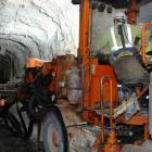 Tunnelling operations at Oceana Gold's Waihi mine. PHOTO: OCEANA GOLD