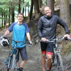 Bike Glendhu founders John Wilson (left) and John McRae are excited about opening a new bike park...