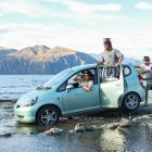 Preparing for their huge journey across Europe and Asia as part of the Mongol Rally are Wanaka...