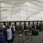 Dozens of people visited a council marquee on the lakefront to view and discuss options for the...