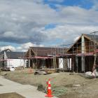 KiwiBuild houses under construction in Wanaka last November.PHOTO: MARK PRICE