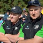 FMG Young Farmer of the Year Otago-Southland regional finalist Zac Thomas (left) and winner Matt...