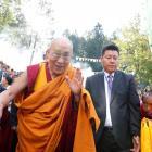 The Dalai Lama arrives for a visit to the Tibet Institute Rikon in Rikon, Switzerland in...