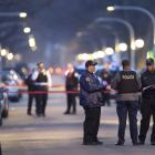 Chicago police work the scene of a shooting in the 6300 block of South Seeley. Photo: AP/Chicago...