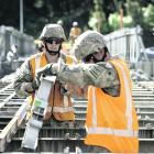 The New Zealand Defence Force has sent New Zealand Army engineers to work with the NZ Transport...
