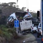 Police said four trucks were involved in the February crash. Photo: NZME
