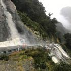 Heavy rains have caused a washout in the Diana Falls area of State Highway 6, the Haast Pass....