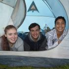 Getting ready to pack up and head home after an Easter Christian youth camp at the Taieri A&P...