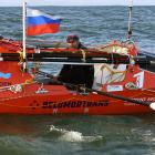 Russian adventurer Fedor Konyukhov is about three-quarters of the way through his rowing journey...