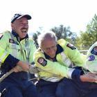 Waitati volunteer firefighters, from left, Callum Milburn, Craig Meade, Peter Norrish and Seraya...