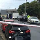 The cordon outside a Wellington home where a woman was found dead on Friday afternoon. Photo: NZ...