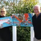 Southland District Council graphic designer Donna Hawkins designed the display for Sally the...