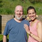 Juliana Costa and her husband, Armindo Machado Junior.
