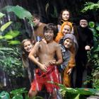 Dunedin Repertory Society members (from front to back) Noah Brummitt (11), Amber Munro (11, right...