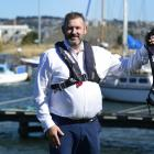 Otago harbourmaster Steve Rushbrook sports a life jacket, which will soon be compulsory wearing...