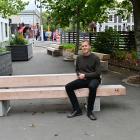 Dunedin City Council urban designer Luke McKinlay at the pocket park outside the Captain Cook...