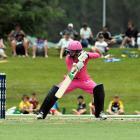 Northern Spirits opener Katie Gurrey guides the ball past Otago Sparks wicketkeeper Katey Martin...