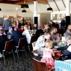 Diners enjoy their meals at the Mosgiel Memorial RSA at Christmas. Photo: Linda Robertson