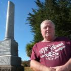 Glenomaru resident Kevin Boam wants the district's cenotaph on the Owaka Highway to be repaired....