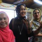 Oamaru Islamic Centre treasurer Hendriani Trisaptayuni (left), of Oamaru, Ade Agustinawati ...