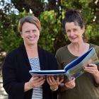 Otago Girls' High School teachers Lisa Taylor (left) and Nicola Chapman brush up on their...