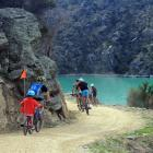 Cyclists on the Roxburgh Gorge trail. Photo: ODT files