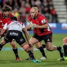 Owen Franks will miss the Crusaders' game against the Highlanders tomorrow night. Photo: Getty...