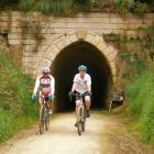 Coming out of an old railway tunnel, which will be used tomorrow in the White Rocks Gravel...