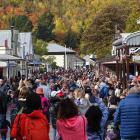Many commented the crowds at this year's Arrowtown Autumn Festival were the largest yet.