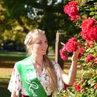 Otago Rose of Tralee representative Rose-Antoinette Gilbert (27) takes a break at the Dunedin...