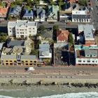An aerial view of the Esplanade at St Clair earlier this week, including a new apartment...