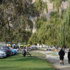 Cars on the lakefront in Wanaka. PHOTO: SEAN NUGENT