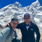 Queenstowner Lewis Latham and his brother, Karl Latham, during their Everest trek. Photo: Supplied