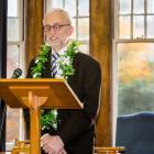 University of Otago Prof Vernon Squire at a retirement function this week. PHOTO: SUPPLIED