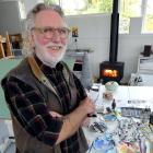 Artist Dick Frizzell enjoys feeling like a local during his stay as artist in residence at...