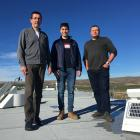 Scientists (from left) Dr Manu Mahieu, of the University of Liege, Belgium, Tyler Wizenberg, of...