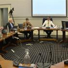 Mayor Dave Cull leads Dunedin city councillors as they begin deliberations on the Dunedin City...