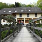 The  hotel in Bavaria where the three bodies were found with crossbow bolts in them. Photo: AP