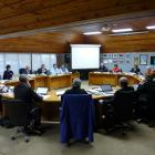 Clutha district councillors make decisions on annual plan proposals in their Balclutha chamber...