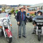 Patriots Deep South Motorcycle Club President, Phil Herriott,  and club Padre, Keith Turner chat...
