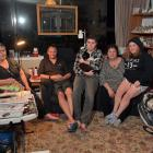Corstorphine household (from left) Gail Kyle, Jamie Hellyer, Reid Sunderland (16), Jacqui Hellyer...