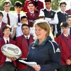 New Zealand Rugby research analyst Danielle Salmon spreads the message about concussion at...