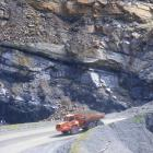 An exposed coal seam on the Denniston Plateau, above Westport, West Coast. Photo: ODT files