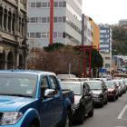 Traffic in central Wellington. Photo: RNZ