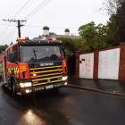 A Fire and Emergency New Zealand spokesman said the fire was out on arrival. Photo: Gregor...