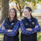 Georgie Lindsay (left), from North Canterbury, and Emma Dangen (Te Awamutu) who are competing in...
