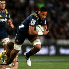 Shannon Frizell will make his first Highlanders start at No 8 against the Lions this weekend....