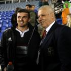 British and Irish Lions head coach Warren Gatland (right) with his son, the Provincial Union XV's...