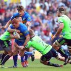 Steven Kitshoff of the Stormers is tackled during the Super Rugby match between Stormers and...